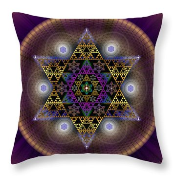 Sacred Geometry 441 Throw Pillow