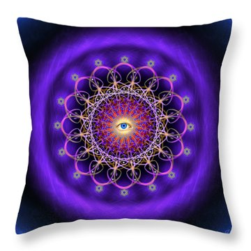 Sacred Geometry 443 Throw Pillow
