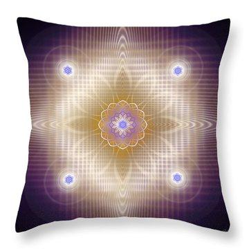 Sacred Geometry 448 Throw Pillow