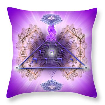Sacred Geometry 450 Throw Pillow