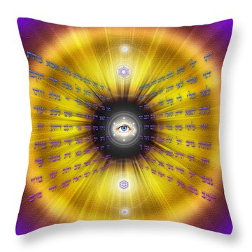 Sacred Geometry 466 Throw Pillow by Endre Balogh