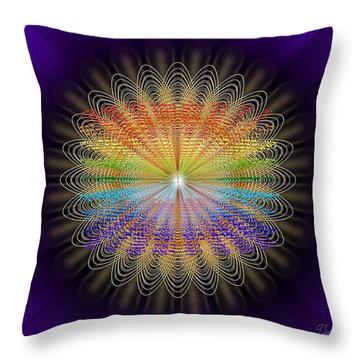 Sacred Geometry 468 Throw Pillow