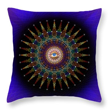 Sacred Geometry 470 Throw Pillow