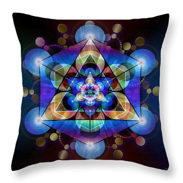 Sacred Geometry 485 Throw Pillow