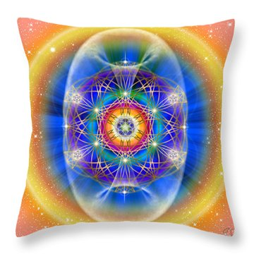 Sacred Geometry 495 Throw Pillow