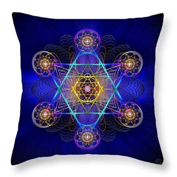 Sacred Geometry 528 Throw Pillow