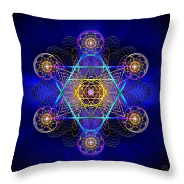 Sacred Geometry 528 Throw Pillow by Endre Balogh