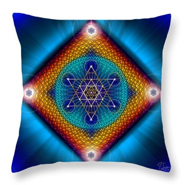 Sacred Geometry 561 Throw Pillow