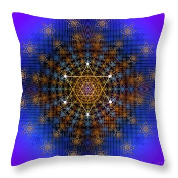 Sacred Geometry 572 Throw Pillow by Endre Balogh