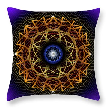 Sacred Geometry 604 Throw Pillow by Endre Balogh