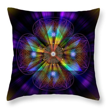 Sacred Geometry 614 Throw Pillow