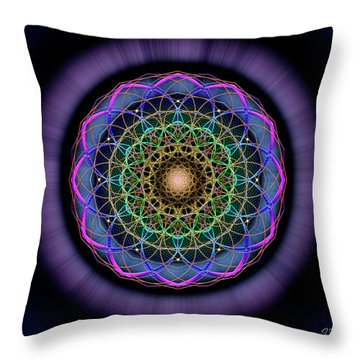 Sacred Geometry 624 Throw Pillow