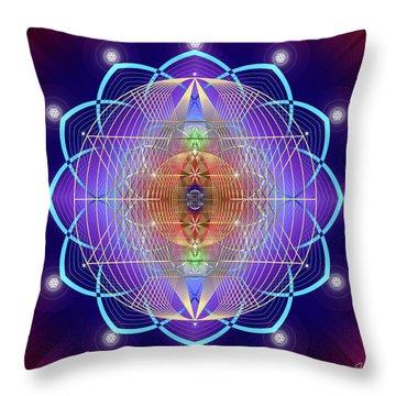 Sacred Geometry 641 Throw Pillow
