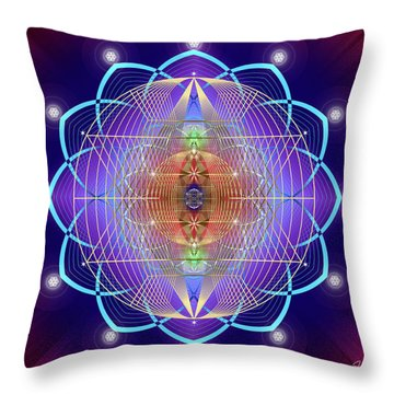 Sacred Geometry 641 Throw Pillow