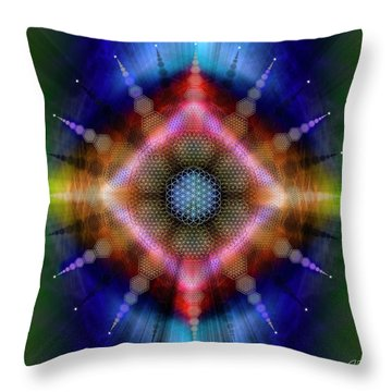 Sacred Geometry 645 Throw Pillow