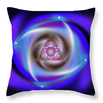 Sacred Geometry 687 Throw Pillow