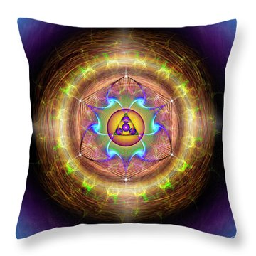 Throw Pillow featuring the digital art Sacred Geometry 707 by Endre Balogh