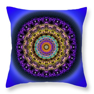 Throw Pillow featuring the digital art Sacred Geometry 708 by Endre Balogh