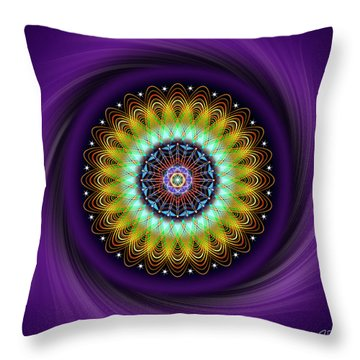 Throw Pillow featuring the digital art Sacred Geometry 710 by Endre Balogh