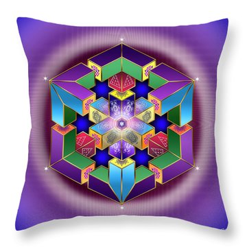 Throw Pillow featuring the digital art Sacred Geometry 711 by Endre Balogh