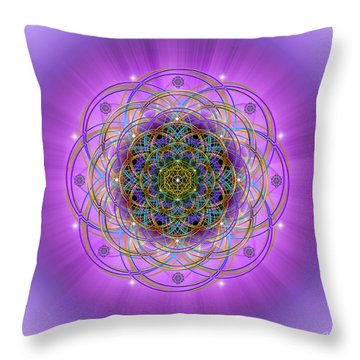 Throw Pillow featuring the digital art Sacred Geometry 715 by Endre Balogh