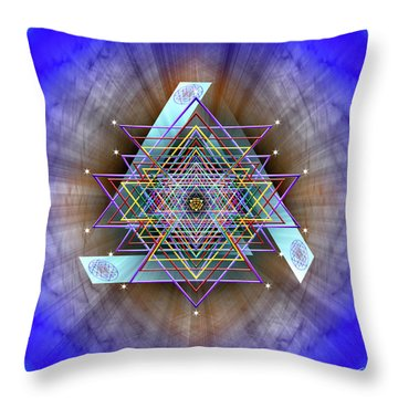 Throw Pillow featuring the digital art Sacred Geometry 717 by Endre Balogh