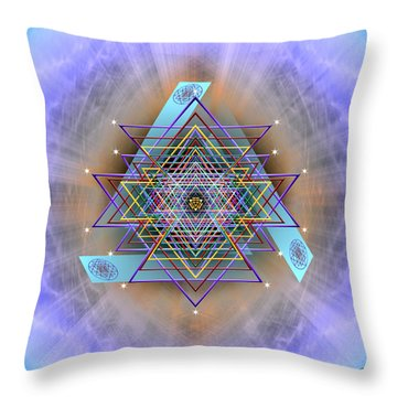 Throw Pillow featuring the digital art Sacred Geometry 717 Version 2 by Endre Balogh