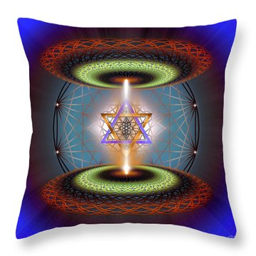 Throw Pillow featuring the digital art Sacred Geometry 718 by Endre Balogh