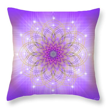Throw Pillow featuring the digital art Sacred Geometry 721 by Endre Balogh