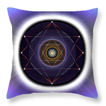 Throw Pillow featuring the digital art Sacred Geometry 722 by Endre Balogh