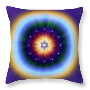 Throw Pillow featuring the digital art Sacred Geometry 724 by Endre Balogh