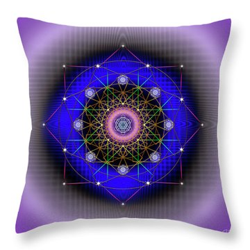 Throw Pillow featuring the digital art Sacred Geometry 725 by Endre Balogh