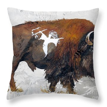 Sacred Gift Throw Pillow by J W Baker