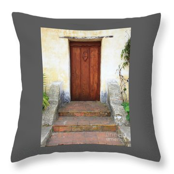 Sacred Heart Door Throw Pillow