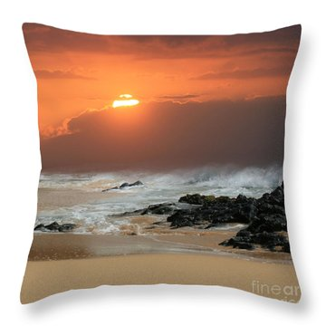 Sacred Journeys Song Of The Sea Throw Pillow by Sharon Mau
