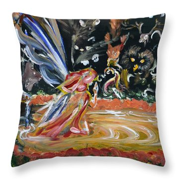 Sacred Pool 2 Throw Pillow