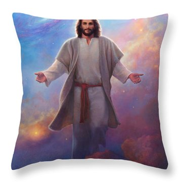 Son Of God Throw Pillows