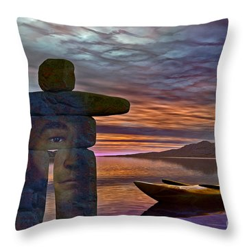 Throw Pillow featuring the digital art Sacred Stone  by Shadowlea Is