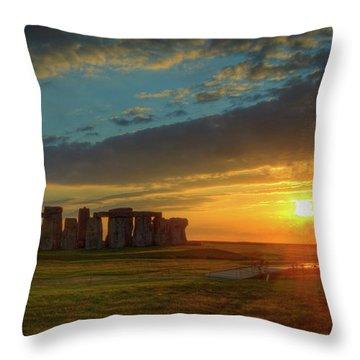 Sacred Sunset Throw Pillow