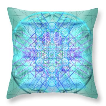 Sacred Symbols Out Of The Void 3b1 Throw Pillow by Christopher Pringer
