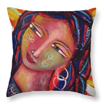 Sacred Traveler, Sacred Healer  Throw Pillow