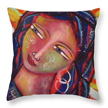 Sacred Traveler, Sacred Healer  Throw Pillow