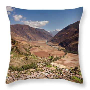 Sacred Valley Throw Pillow by Aivar Mikko