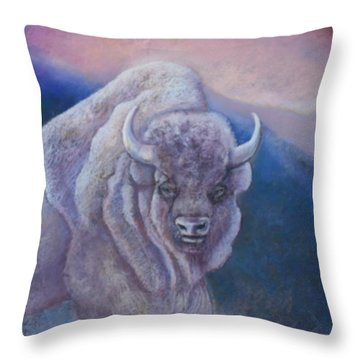 Sacred White Buffalo Throw Pillow