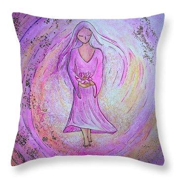 Sacred Woman Throw Pillow by Gioia Albano