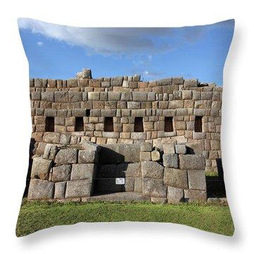 Sacsaywaman Cusco, Peru Throw Pillow by Aidan Moran