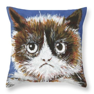 Sad Cat Throw Pillow