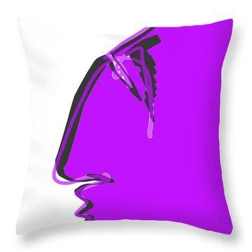 Sad Grape Throw Pillow