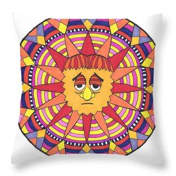 Sad Sunny Throw Pillow