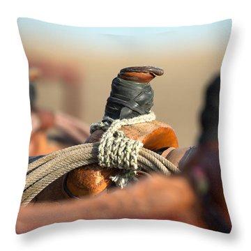 Saddle Horns Throw Pillow